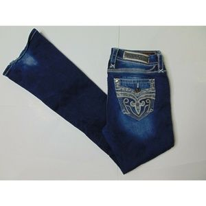 Rock Revival 29 Tali Boot Blue Jeans Mid Rise